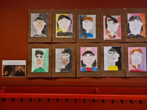 groep 5 eindresultaat zelfportret